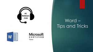 Word Tips and Tricks