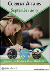 Current Affairs September 2019